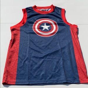Captain America men's small tank top